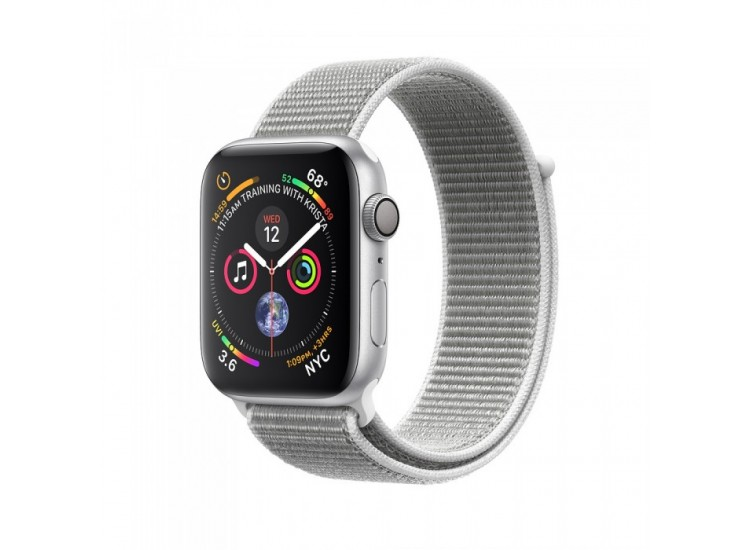 Apple Watch Series 4 40mm Silver Aluminium Case with Seashell Sport Loop (MU652)