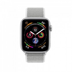 Apple Watch Series 4 44mm Silver Aluminium Case with Seashell Sport Loop (MU6C2)