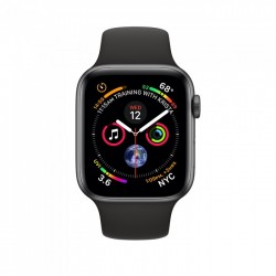 Apple Watch Series 4 44mm Space Grey Aluminium Case with Black Sport Band (MU6D2)