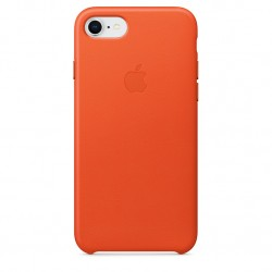 iPhone 8 / 7 Leather Case - Bright Orange