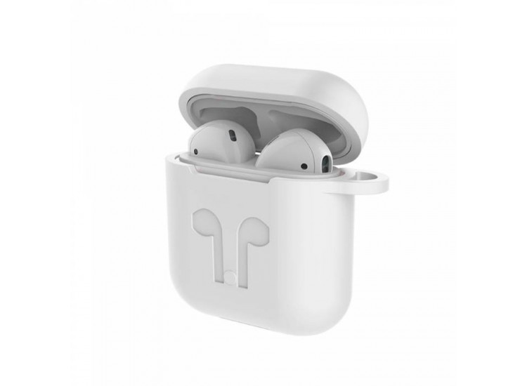 Чехол Devia для AirPods Naked Silicone Series (White)