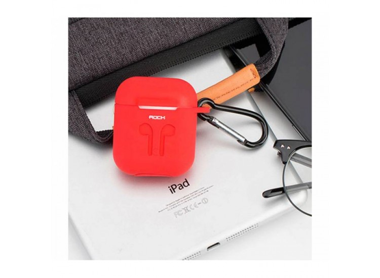 ROCK Carrying Case Red для Apple AirPods