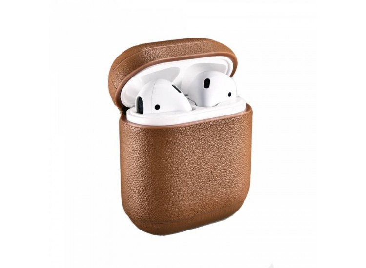 Чехол iCarer для AirPods Nappa Leather Series (Brown)