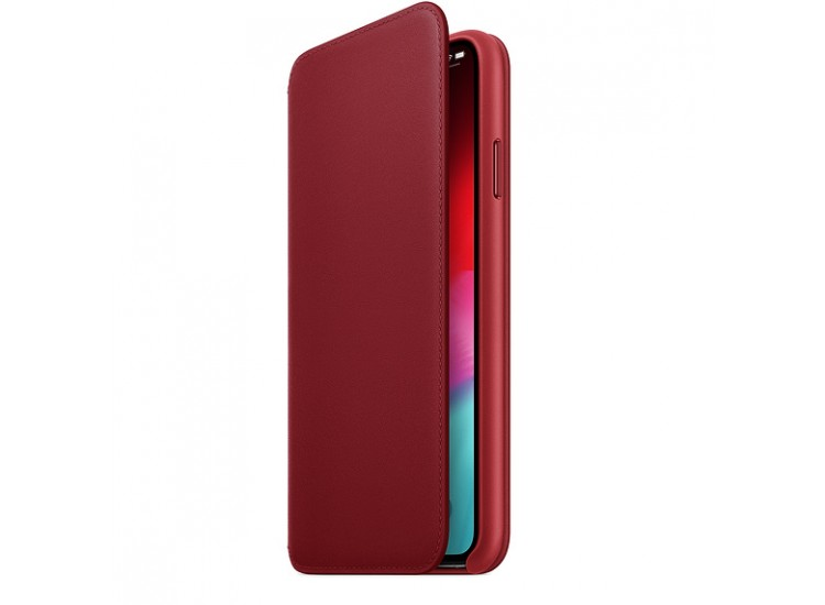 iPhone XS Max Leather Folio - (PRODUCT) RED
