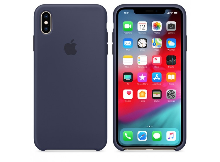 iPhone XS Max Silicone Case (Midnight Blue)