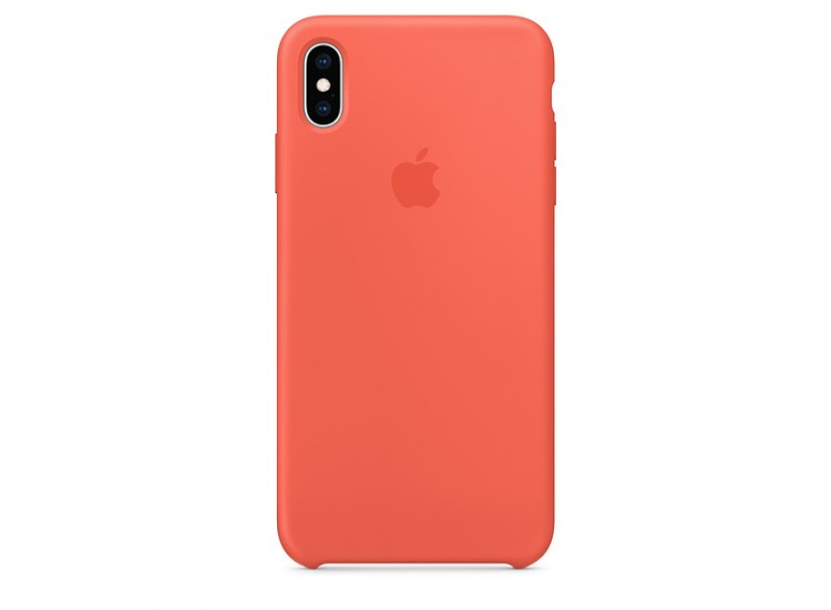 iPhone XS Max Silicone Case - Nectarine