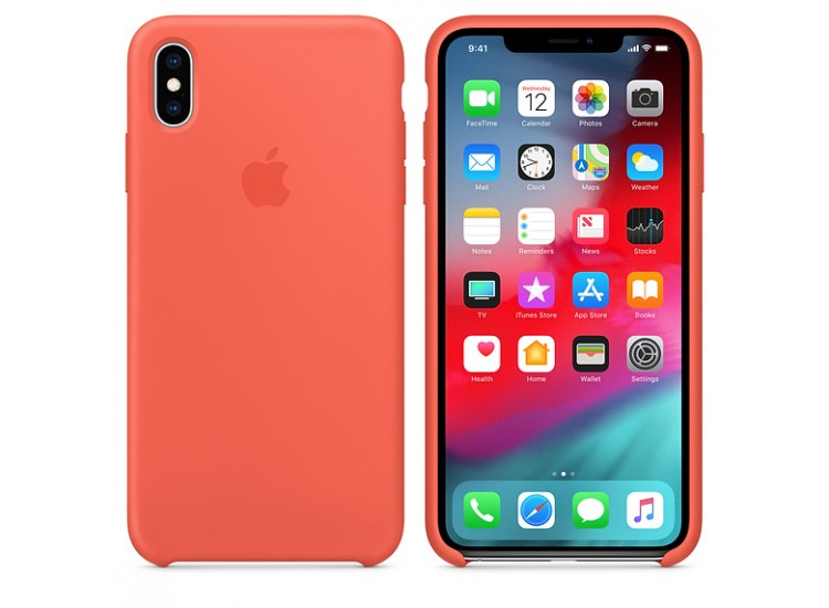 iPhone XS Max Silicone Case (Nectarine)